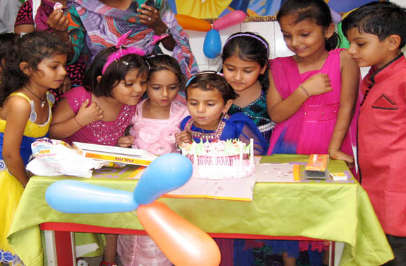 children birthday celebration at vijaya convent school all students