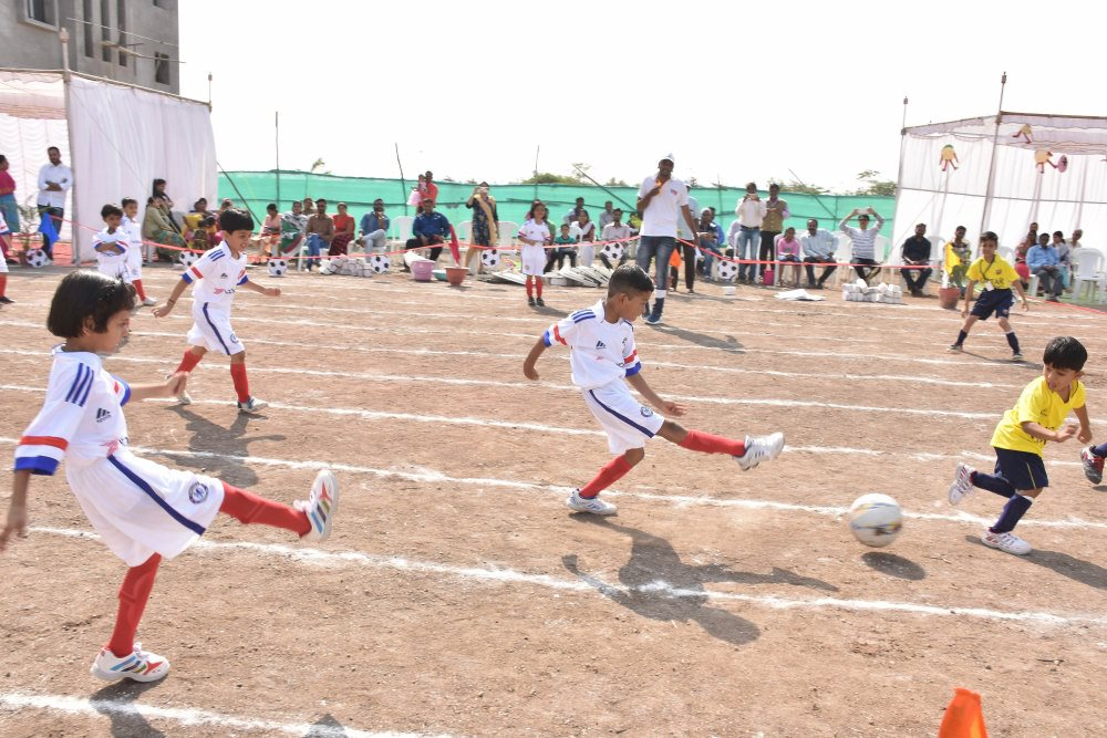 football game sports day vijaya convent outdoor games ground