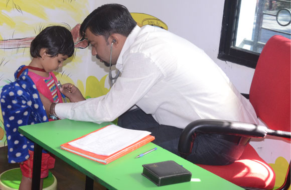 quality health check up camp held at vijaya convent school