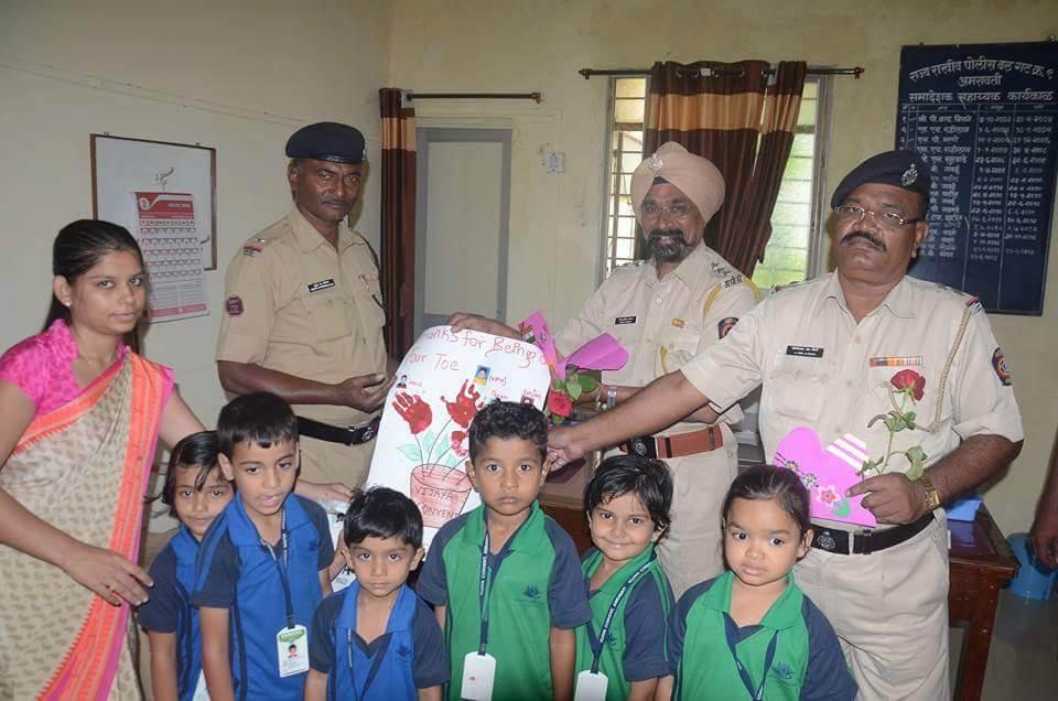 eco friendly card making activity - vijaya convent cbse school amravati