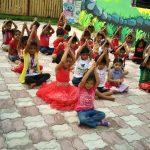 top schools in amravati vijaya school where my kid will get best growth exercise doing in the campus ground