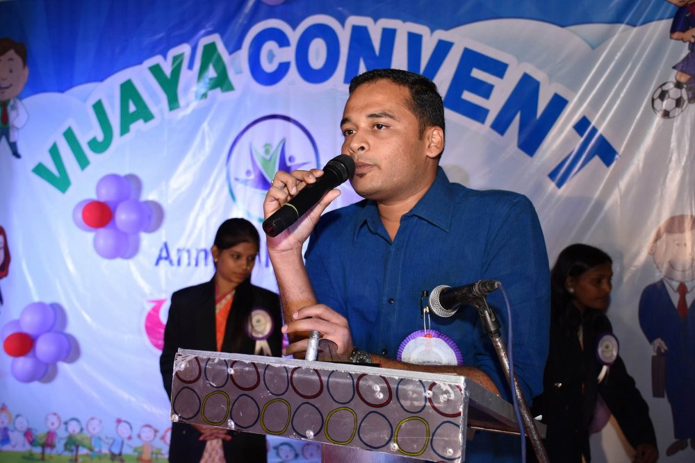 vijaya convent annual function celebration best speech given by the digvijay deshmukh