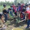 vijaya convent children doing work in farm