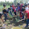 vijaya convent children doing work in farm