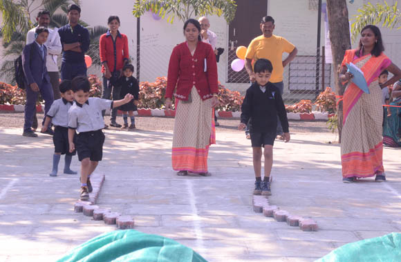 vijaya convent school sports day event in the playground