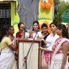 well trained teachers school vijaya school singing a song at republic day