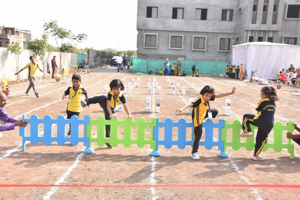 where my kid will get best growth talent study teachers why vijaya convent jump and run sport day at vijaya convent
