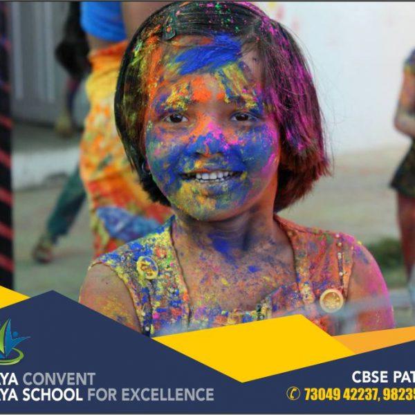 festival celebration at school festival celebration festivals colors holi at school holi photos free photos school free school photos colored face vijaya convent amravati