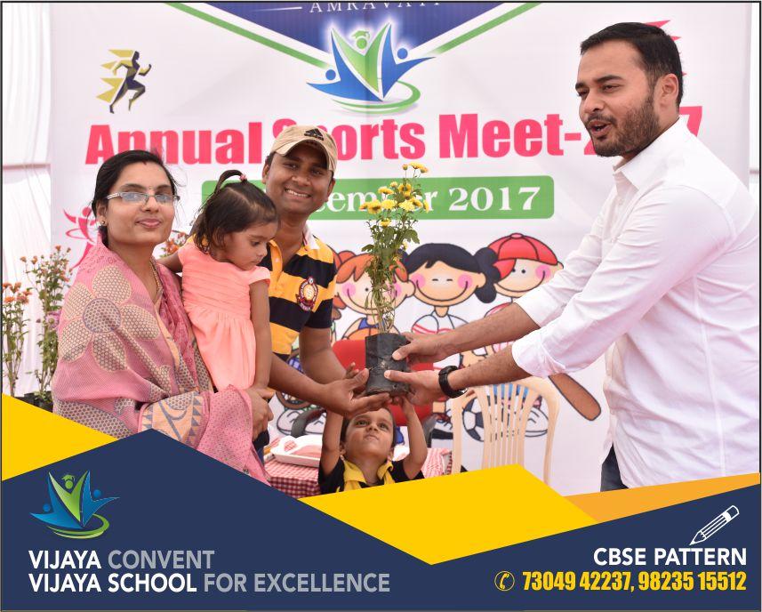 digvijay deshmukh president at vijaya convent and vijaya school for excellence pk deshmukh multi purpose society chairmen sports day