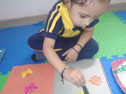 okra flower printing vijaya convent cbse school amravati