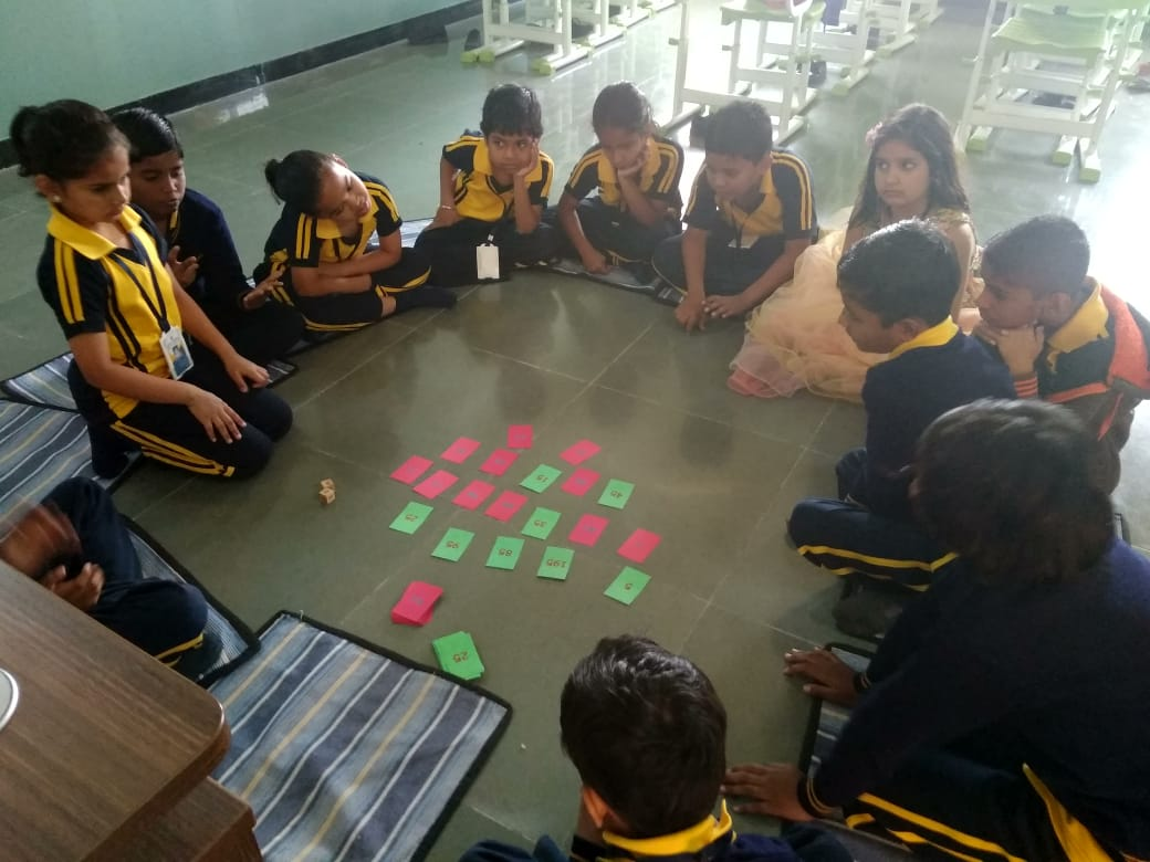 Group Activity english medium schools in amaravati