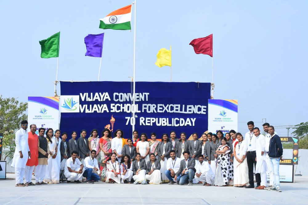staff-and-management-at-vijaya-convent-on-republic-day