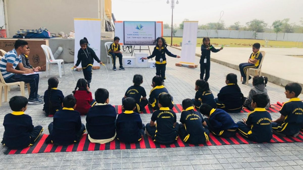 cbse pattern international school - Girls Rope Skipping
