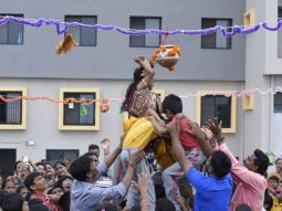 janmashtami-and dahi-handi-celebrated-in-play-school-in-amravati