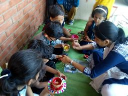diya-making-activity-vijaya-convent-school-amravati