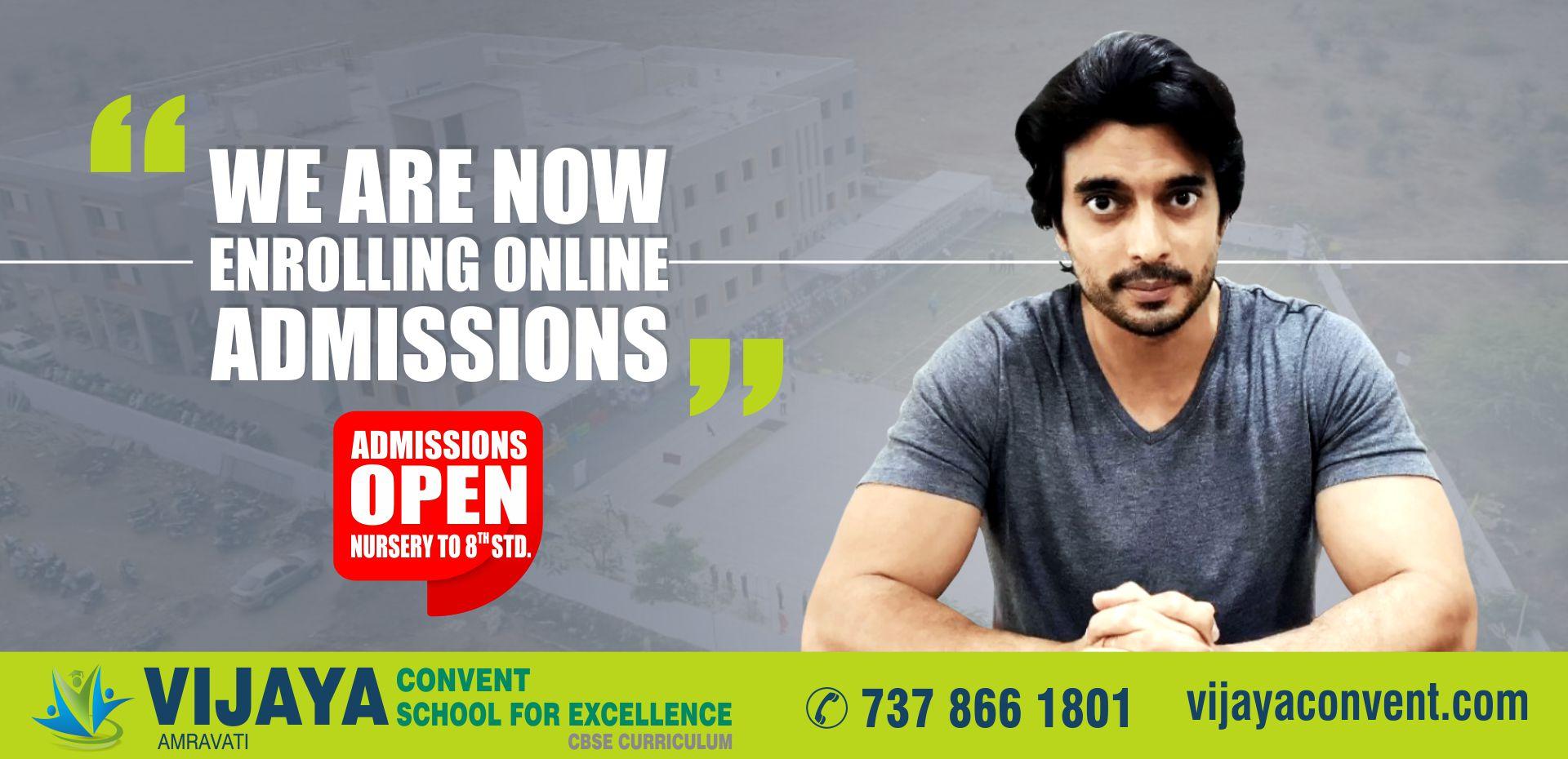 Admission Open for 20-21 at Vijaya convent school amravati cbse school