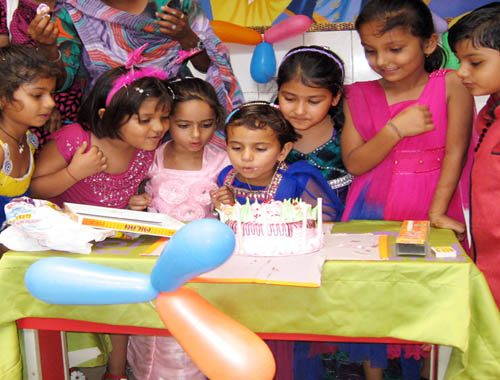 children birthday celebration at vijaya convent school all students
