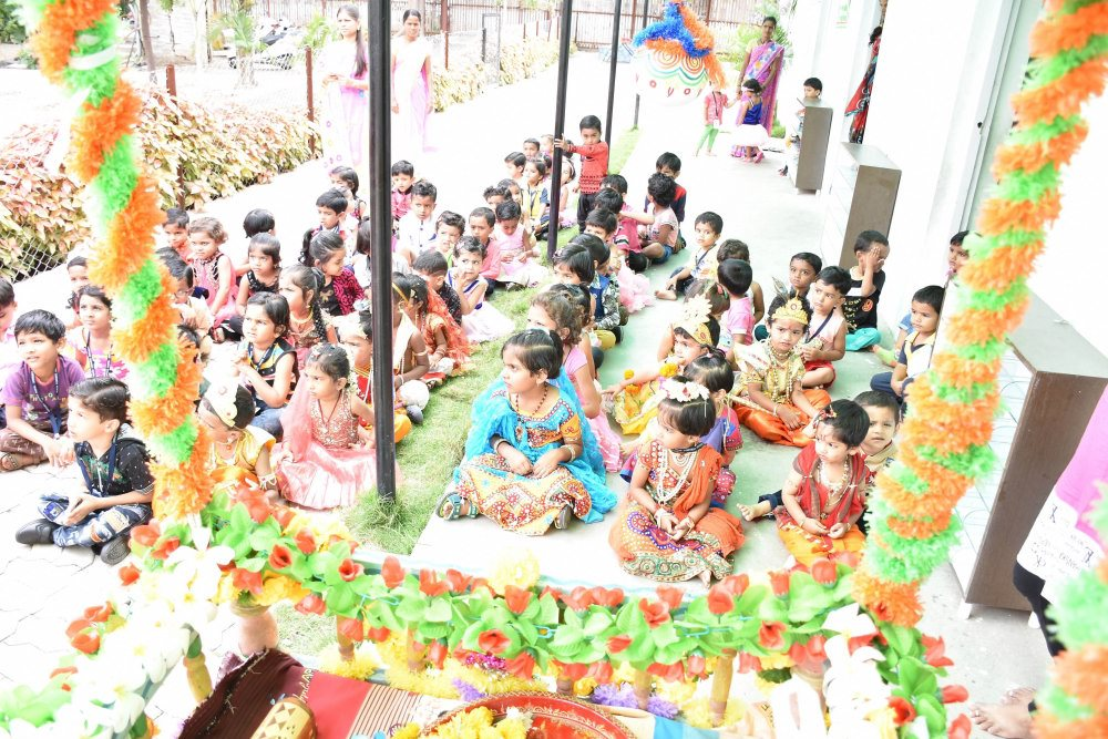 shree krishna janmashtami celebration in the vijaya convent school campus amravati