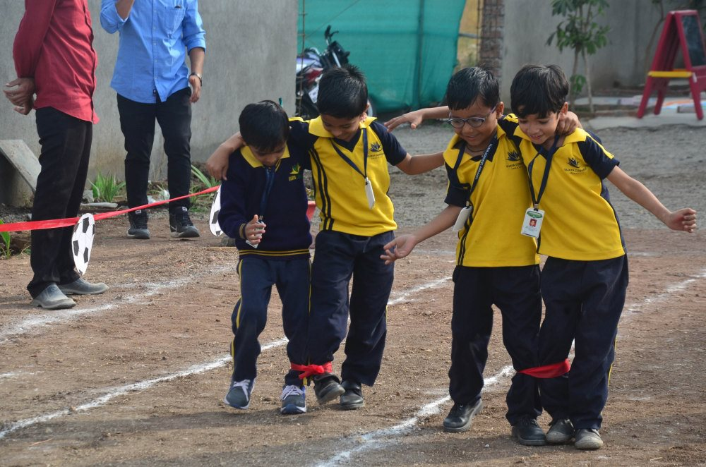 sport day celebration vijaya school stundents amaravati