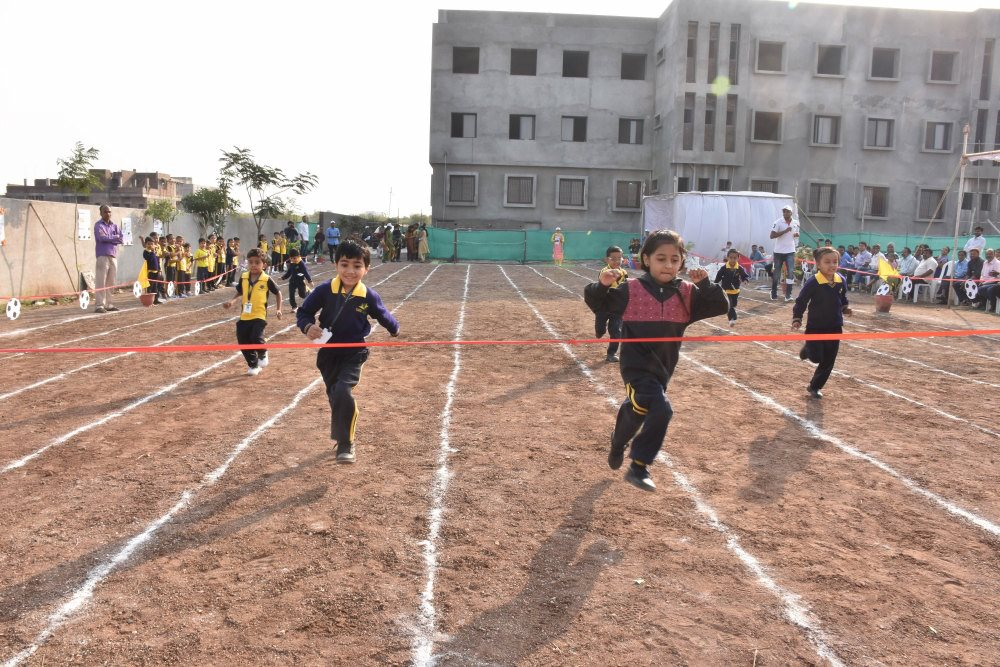 sports area running competition sport day at vijaya convent