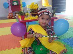 young girl playing dandiya vijaya school amravati