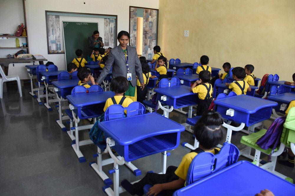 Class teachers and student - vijaya convent cbse school amravati