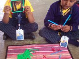 best english medium school in amravati - Girls Jodo straw activity