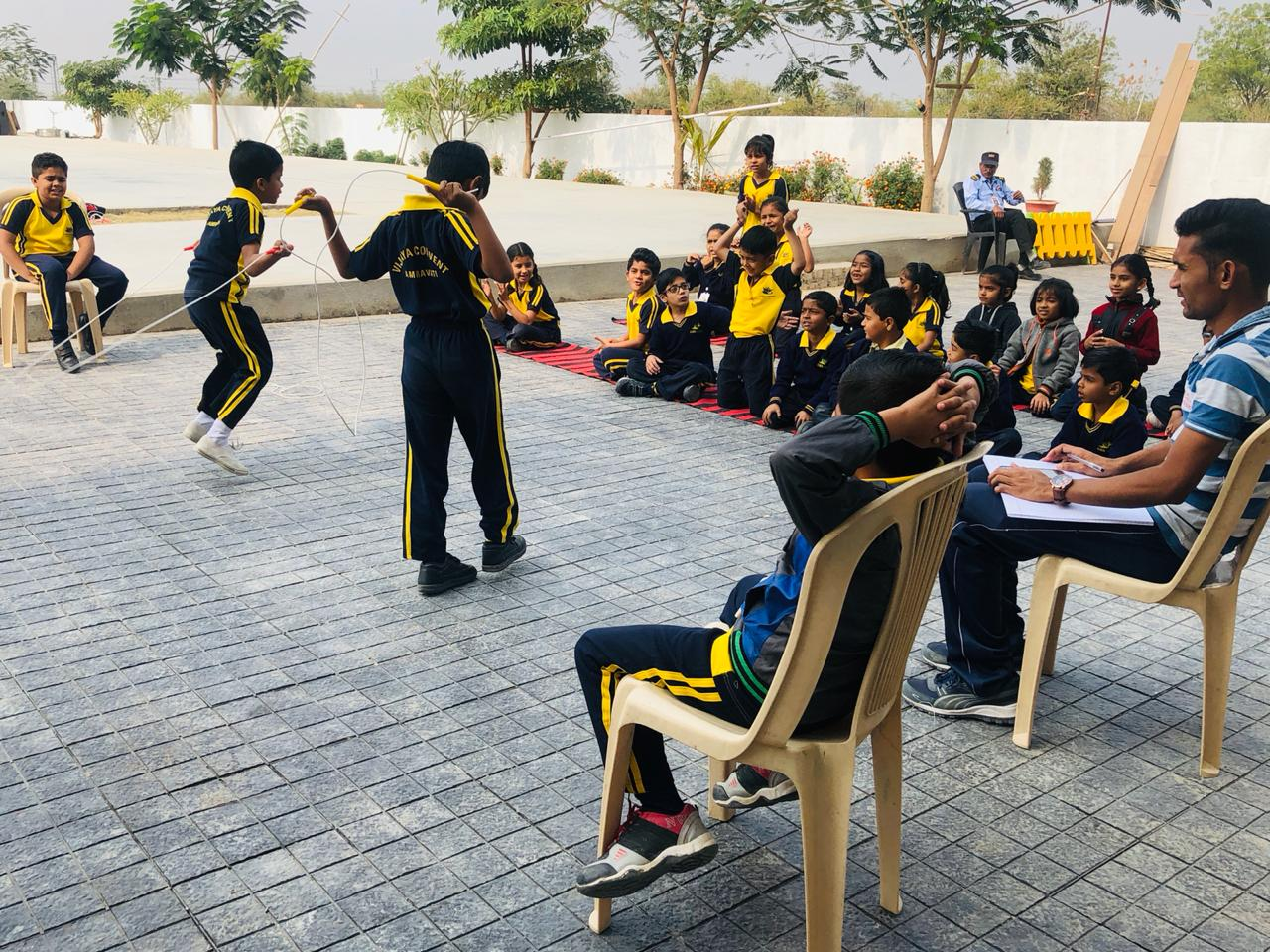 Best CBSC school in Amravati - Child Rope Skipping