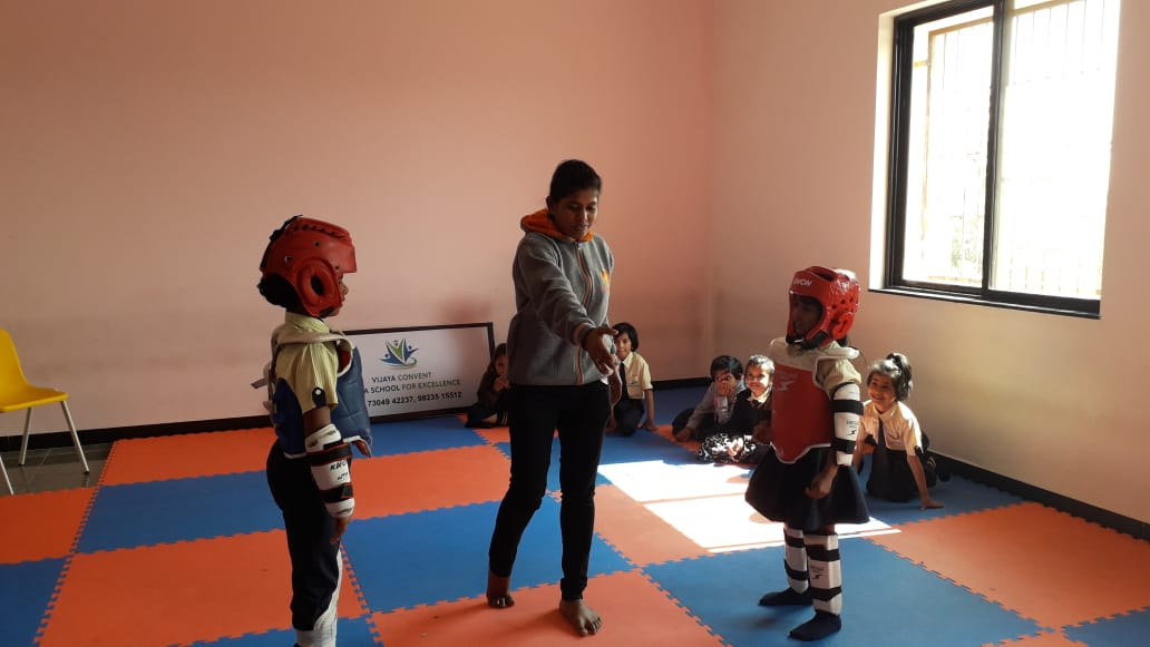 English School in amravati - Taekwondo 3d architecural renderings
