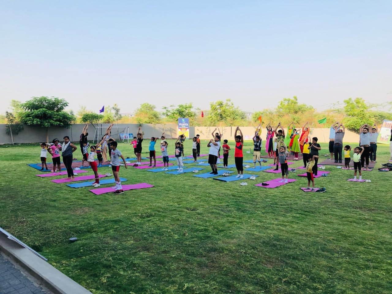 Yoga-activity-summer-camp-list-of-schools-in-amravati