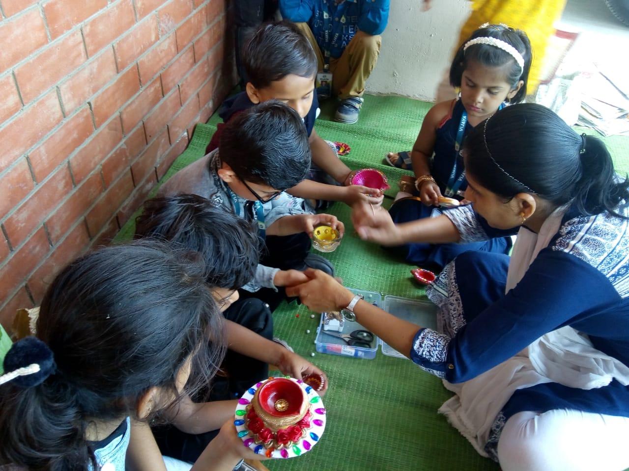 diya-making-activity-vijaya-convent-school-amravati