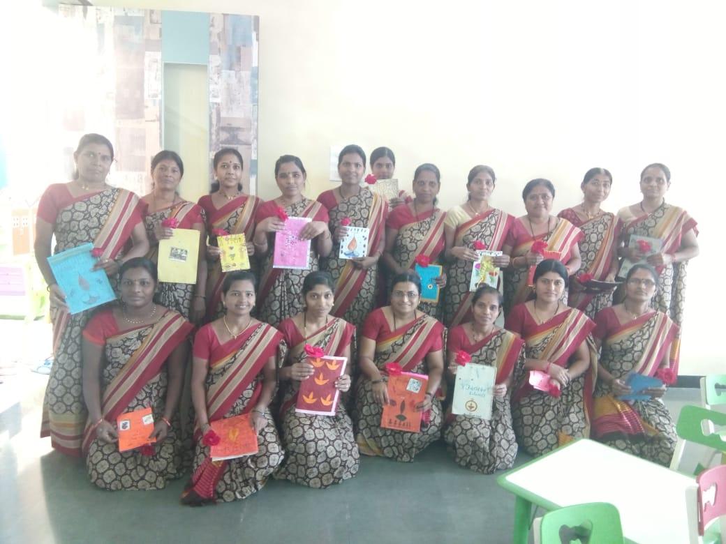 vijaya-convent-photos-of-there-staff-doing-diwali-activity-school-amravati